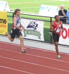 Jasper Schiedel in the 4x400 relay