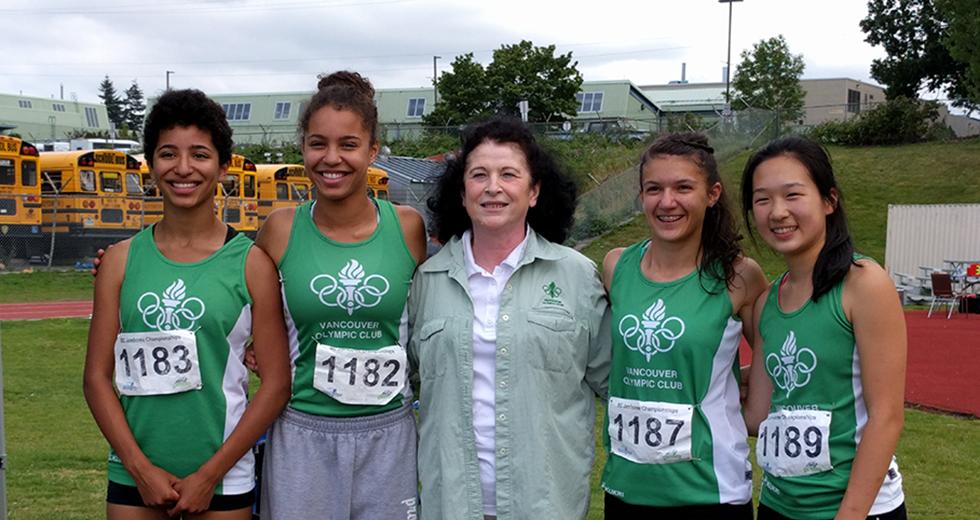 Girls Relay Silver Medalist at BC Jamboree